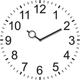 Wanduhr aus Glas, rund, School Clock, klassische weiße Uhr, 30x30 cm von Eurographics - 1