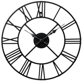 Wanduhr Metall Durchmesser 40cm Wanduhr Schwarz - 1