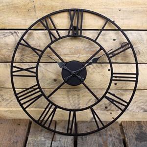 Wanduhr Metall Durchmesser 40cm Wanduhr Schwarz - 3