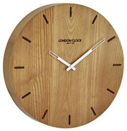 Wanduhr mit batteriebetriebenem Quartzwerk London Clock -Eiche 33cm- 01243 - 1