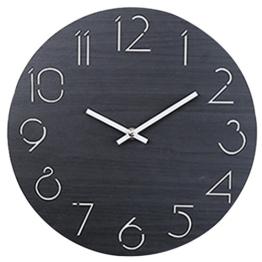 Wanduhr Vintage Lautlos, CT-Tribe 12 Zoll(30cm) MDF Wanduhr Retro Vintage Uhr Ohne Ticken Wall Clock Küchenwanduhr - 2 - 1