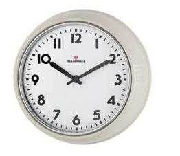 Zassenhaus 72730 Retro Wand-Uhr, Durchmesser 24 cm, creme - 1