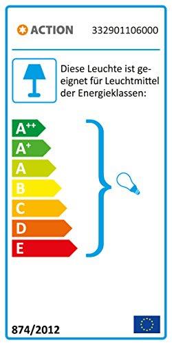 ACTION by WOFI 332901106000 Standleuchte Serie: Fynn, 150 cm/ Durchmesser 25 cm, Metall,  60 W, E27, Nickel-matt/schwarz, 25 x 25 x 150 cm - 1
