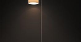 Aglaia LED Stehleuchte Classic Arc Stehleuchte mit Hängelampenschirm mit Fußschalter auf Aus-Schalter für Wohnzimmer, Wohnzimmer, Büro oder Schlafzimmer, energiesparend und langlebig-weiß - 2