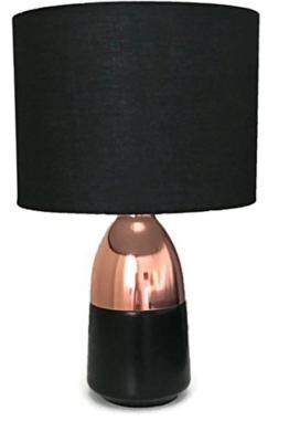 Bada Bing Tischleuchte Kupfer Schwarz Touch Funktion GROß Leuchte Stehlampe mit Schirm ca. cm Lampe Lampenschirm edel 19 - 1