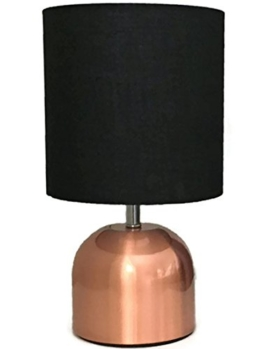 Bada Bing Tischleuchte Kupfer Schwarz Touch Funktion KLEIN Leuchte Stehlampe mit Schirm ca. cm Lampe Lampenschirm edel 17 - 1