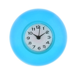 Baoblaze Wasserfeste Badezimmer Uhr mit Saugnapf - Duschuhr zum einfachen Aufhängen - Blau - 1