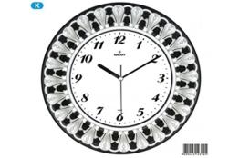 Barock Wanduhr Ø 34cm Silber/Schwarz Premium Saati - 1