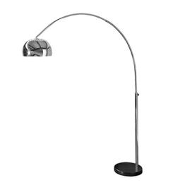Bogenlampe LOUNGE DEAL schwarz Marmorfuss chrom 170-210cm ausziehbar - 1