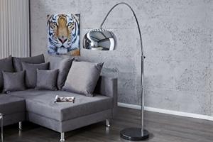 Bogenlampe LOUNGE DEAL schwarz Marmorfuss chrom 170-210cm ausziehbar - 3