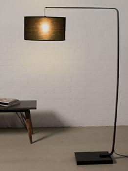 Bogenlampe schwarz 170 cm Bogenleuchte Stehleuchte Stehlampe Marmor Metall Design Modern Lampe Leuchte - 1