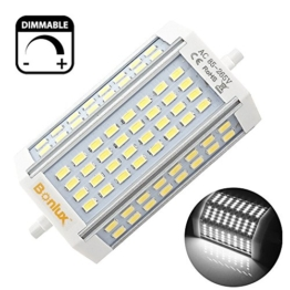 Bonlux 30W Dimmbare R7s Linear LED Tube 118mm Kühl Weiß 6000K 200 Degrees Super Bright J Typ J118 R7s Scheinwerfer-Birnen-250W Halogen-Ersatz LED (ohne Lüfter) - 1