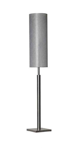 Bony Design Stehlampe Edelstahl rund mit Lampenschirm - 160 × 25 × 25 - Glas Grau - 1