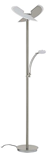 Briloner Leuchten LED Stehlampe mit Leselampe, 2-teilig kippbarer Leuchtenkopf, stufenlos dimmbar, moderne Wohnzimmerlampe, 30 W + 6 W, Höhe: 180 cm - 1