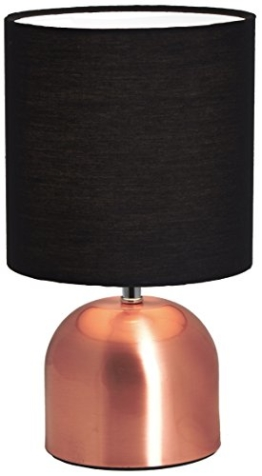 BRUBAKER Tisch- oder Nachttischlampen 28 cm Kupfer / Schwarz- Designed in Germany - 1