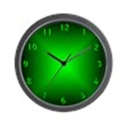CafePress–Grün Glow–Einzigartige dekorative Wanduhr 25,4cm - 1