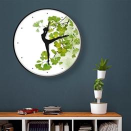 COCO Vier Jahreszeiten Grün Art Wanduhr Wohnzimmer Wanduhr Mode Persönlichkeit Mute Uhren und Uhren Einfache Wild Creative Taschenuhr Rund Metall HOME - 1