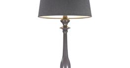 dasmöbelwerk LED Leuchte JORDI Tischlampe mit Schirm Lampe Stehleuchte 64 cm grau - 2