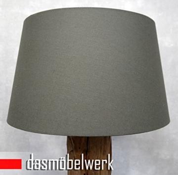 dasm belwerk xxl stehlampe leuchte massiv teak gro e treibholz lampe mit schirm grau redidoplanet. Black Bedroom Furniture Sets. Home Design Ideas