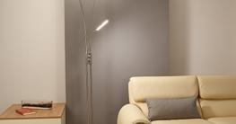 Deckenfluter LED mit RGBW Farbwechsel | Stehleuchte inkl. Fernbedienung | Stehlampe + Leselampe | Fluter mit 1x LED-Board 4W 350lm 3000K | Leuchte dimmbar | inkl. 1x Gratis Teleskop LED-Taschenlampe - 5