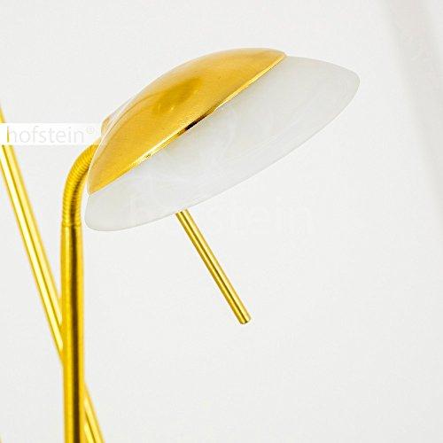 deckenfluter saltum aus metall messing mit verstellbarem lesearm stehleuchte f r schlafzimmer. Black Bedroom Furniture Sets. Home Design Ideas