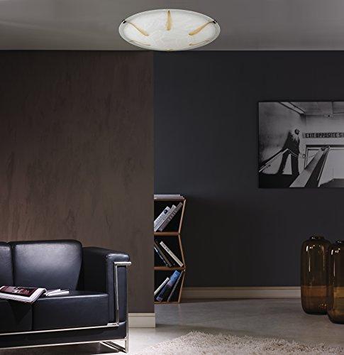 deckenleuchte altmessing glas wei alabaster gold 40cm 23563 spot design lampe leuchte. Black Bedroom Furniture Sets. Home Design Ideas