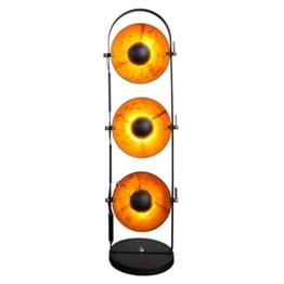 Design Stehlampe STUDIO schwarz gold Metall 3 Lampenschirme Lampe Blattgold Optik Stehleuche Bodenlampe Wohnzimmer Beleuchtung - 1