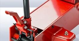 DeTec Rangierwagenheber 2000kg / 2t 80cm Wagenheber hydraulisch inkl. Unterstellböcke. 2 to. 1Paar, besonders für schwere Autos geeignet - 6