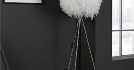 Dreibein Stehlampe Stehleuchte Standleuchte DUCKY 1 | ca. 150 cm hoch | Weiß | Papier | Entenfedern - 4