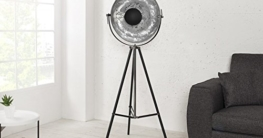 DuNord Design Stehlampe Stehleuchte CINEMA schwarz / silber Retro Design Lampe Spotleuchte - 3