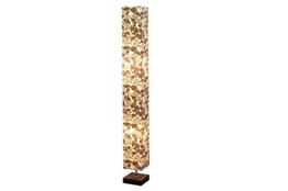 DuNord Design Stehlampe Stehleuchte Lichtsäule MILANO 125cm weiss schwarz floral - 1