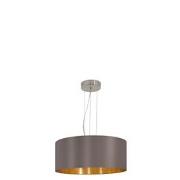 EGLO 31608 Hängeleuchte Maserlo, Durchmesser 53 cm, Stahl, cappucino gold Schirm, nickel-matt - 1