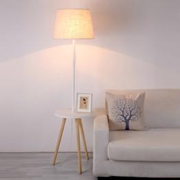 Einfache Regal-Stehlampe, kleine Couchtisch-Dichte-Brett-Tabellen-Lichter, kreative Zug-Linie Schalter, E27 Wohnzimmer-Schlafzimmer-dekorative Lichter ( Farbe : Round Desktop ) - 1
