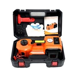 Elektrischer hydraulischer Auto-Jack 3.5T (7716lb), automatischer Notaufzug 12V DC, Reifen-Inflator-Pumpe und LED-Taschenlampe 3 in 1 Satz Auto-Reparatur-Werkzeug-Installationssatz, für alle Autos, Vans, LKWs, SUVs - 1