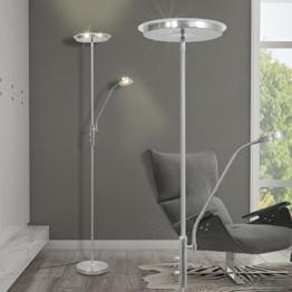 Festnight Stehlampe Stehleuchte Deckenfluter Standleuchte LED Dimmbar Warmweiß - 1