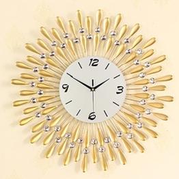 Flashing- Europäische Persönlichkeit Stumm Große Wanduhr Moderne Wohnzimmer Kreative Mode Einfache Dekorative Wanduhr ( Farbe : Gold , größe : 60 ) - 1