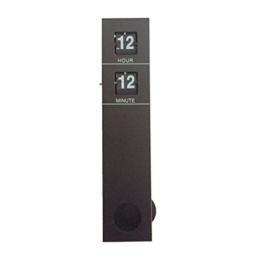 Flashing- Rechteck Vertikal Flip Seiten Wanduhr mit Pendel, Metall + PVC Wanduhr, kreative Wohnzimmer Schlafzimmer Uhren und Uhren, 9.5 * 5.5 * 48 cm (3.7 * 2.2 * 19 Zoll) ( Farbe : Schwarz ) - 1