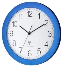 Funk-Wanduhr TFA 60.3512 mit Lautlos Sweep-Uhrwerk, 300 mm (Blau Metallic) - 1