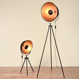 Geniale Studiolampe mit 160cm Höhe und einem goldenen Schirm Tripod - 1