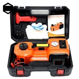 GOGOLO 3.5T Kapazität Elektrische Hydraulische DC12V KFZ Wagenheber Rangierwagenheber Kit Einschließlich Notfall Reifenfüller Pumpe mit LED & Elektro Schlagschrauber Auto Repair Tool Kit für Auto, SUV (3.5T) - 1