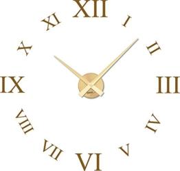 Graz Design 800378_GD_091 Wandtattoo Uhr mit Uhrwerk Wanduhr rmische Zahlen Wohnzimmer (Uhr Gold/Aufkleber Gold ) - 1