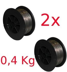 GÜDE 2 x Fülldraht 0,9 mm Stahl Kleinspule für Schweißgerät SGA120 NEU - 1