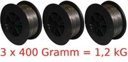 GÜDE 3 x 0,4 kg Fülldraht 0,9 mm Stahl Kleinspule für Schweißgerät SGA120 NEU - 1