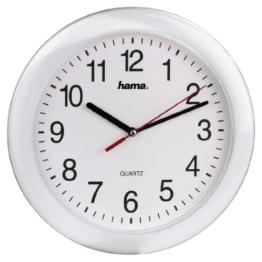 Hama Quarz Wanduhr PP-250 (analog, zeitloses Design, ohne Funkwellen) weiß - 1