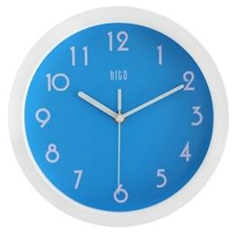 HITO™ modernen bunten Stille Nicht-tickende Wanduhr- 10 Zoll (blau) - 1