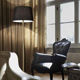 Ideal Lux London Stehleuchte mit Schirm 174 cm / Stehlampe Messing, Schwarz - 1