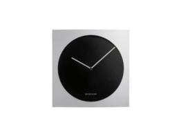 Jacob Jensen - Wanduhr, Uhr - Farbe: Silber/Schwarz - Aluminium - 35 x 35 cm - zeitloses dänisches Design - 1