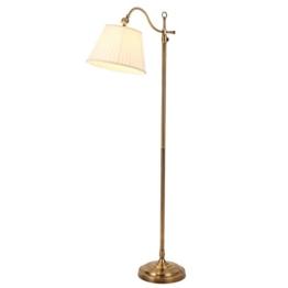 JCRNJSB® Amerikanische Retro-Stehlampe, Wohnzimmer Schlafzimmer Nachttisch Studie Leselampe kreative LED Fernbedienung vertikale Stehlampe 140cm hoch Dimmbar, kann beleuchtet werden ( größe : 12W white light ) - 1