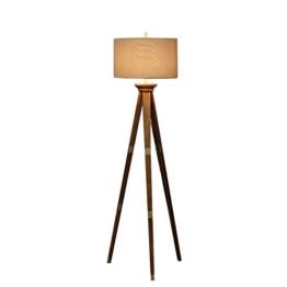 JCRNJSB® Stehlampe, Wohnzimmer kreative Mode warmen Schlafzimmer amerikanischen Land Nordic Massivholz Stativ Stehlampen Dimmbar, kann beleuchtet werden - 1