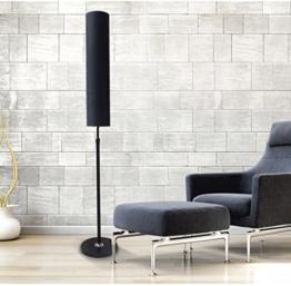 JCRNJSB® Stehleuchte Wohnzimmer Schlafzimmer Studie Einfache und moderne Stehleuchte Kreative Stehleuchte im europäischen Stil LED-Lampen ohne Lichtquelle Dimmbar, kann beleuchtet werden ( Farbe : Schwarz-S ) - 1
